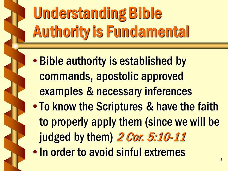 Understanding Bible Authority is Fundamental