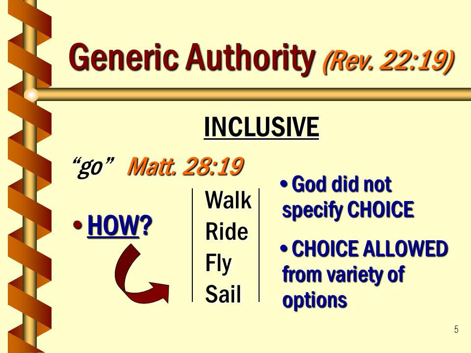Generic Authority (Rev. 22:19)