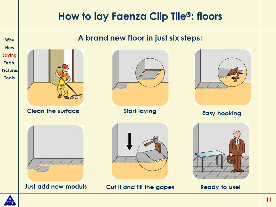 How to lay Faenza Clip Tile®: floors