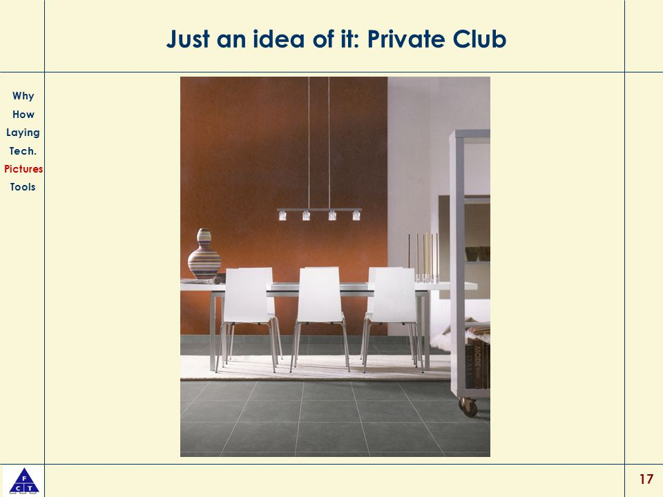 Just an idea of it: Private Club