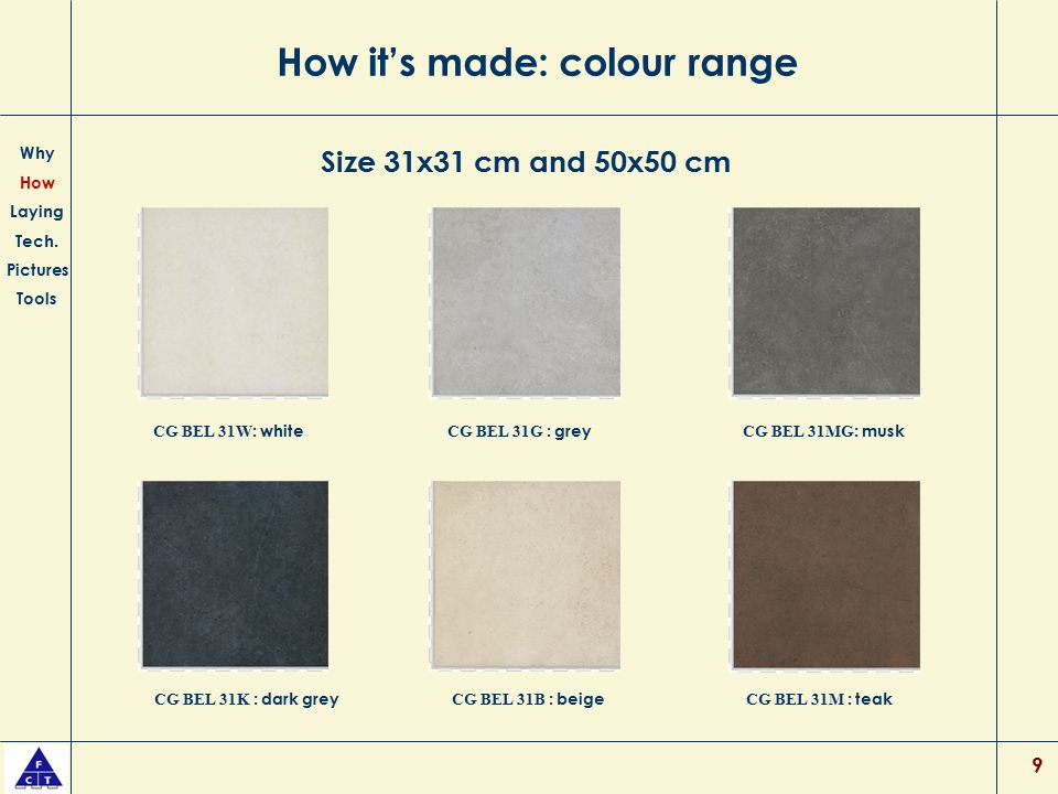 How it's made: colour range