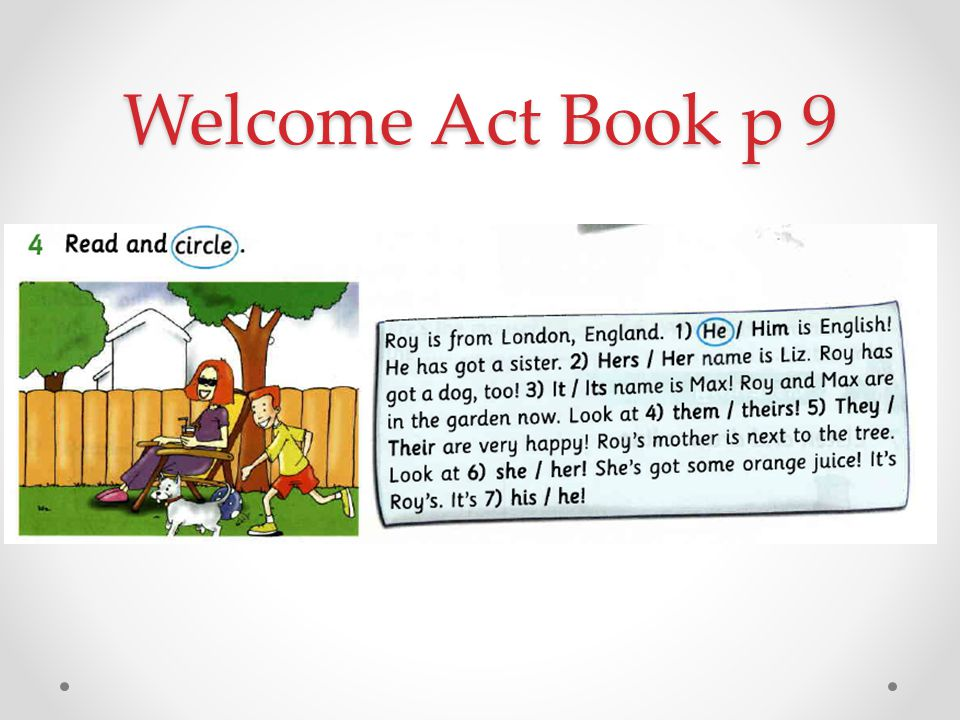 Welcome Act Book p 9
