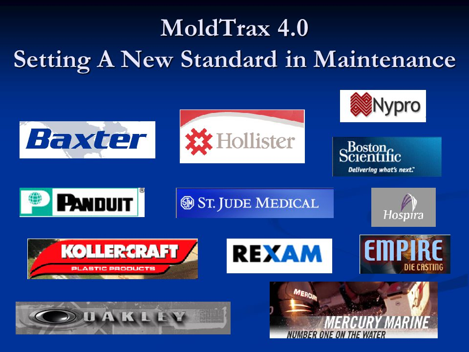 MoldTrax 4.0 Setting A New Standard in Maintenance