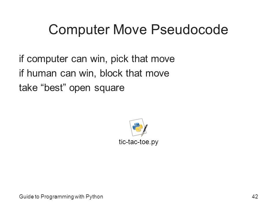 Computer Move Pseudocode