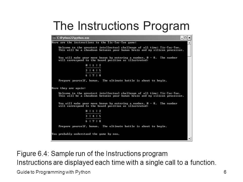 The Instructions Program