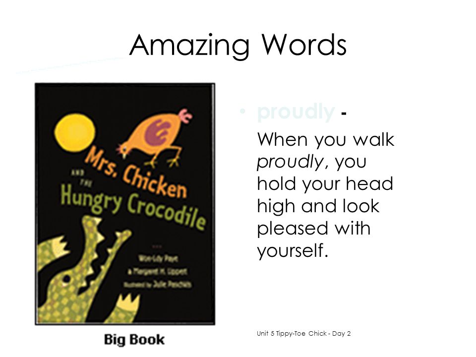 Amazing Words proudly -