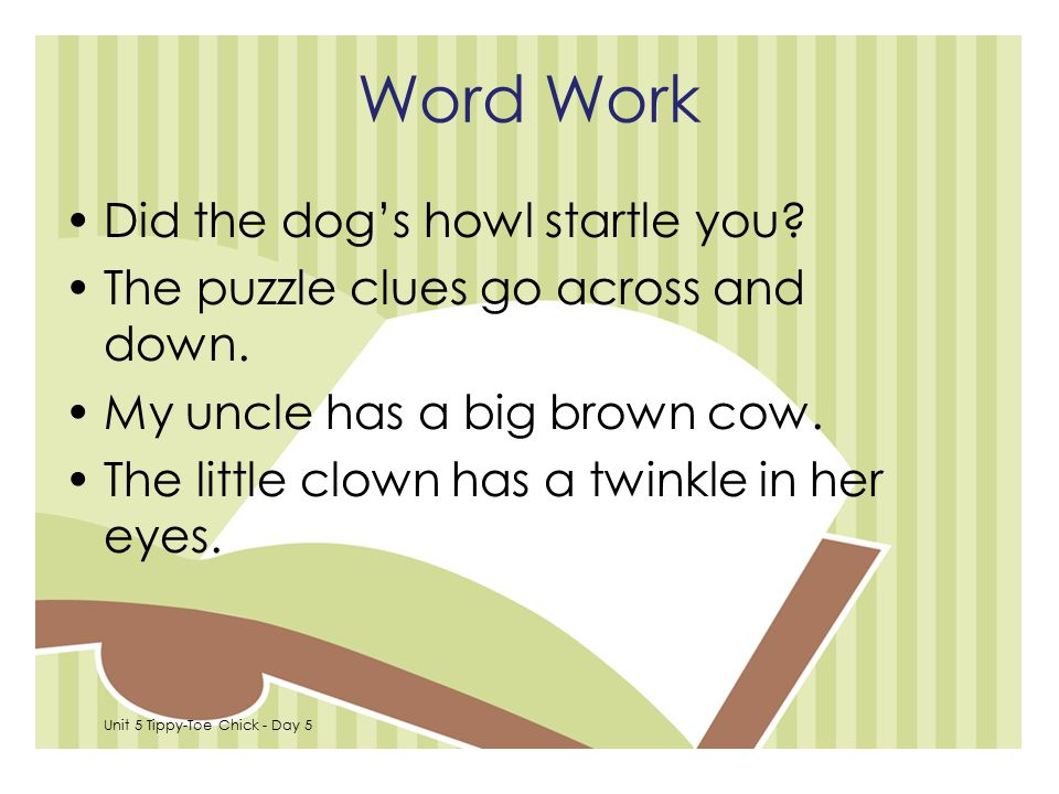 Word Work Did the dog's howl startle you