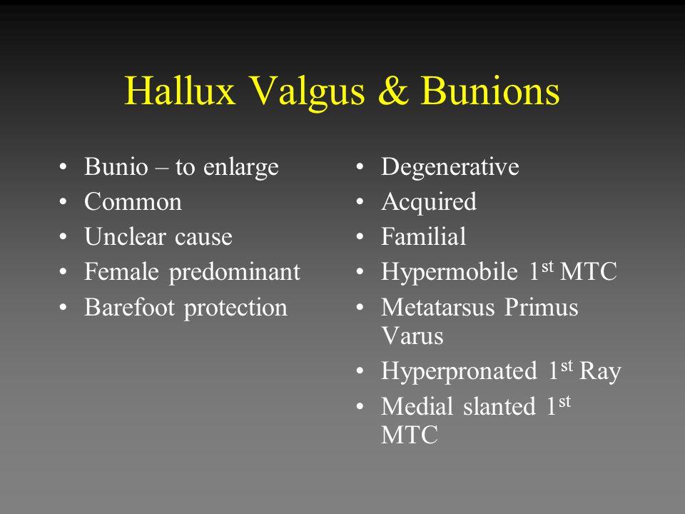 Hallux Valgus & Bunions
