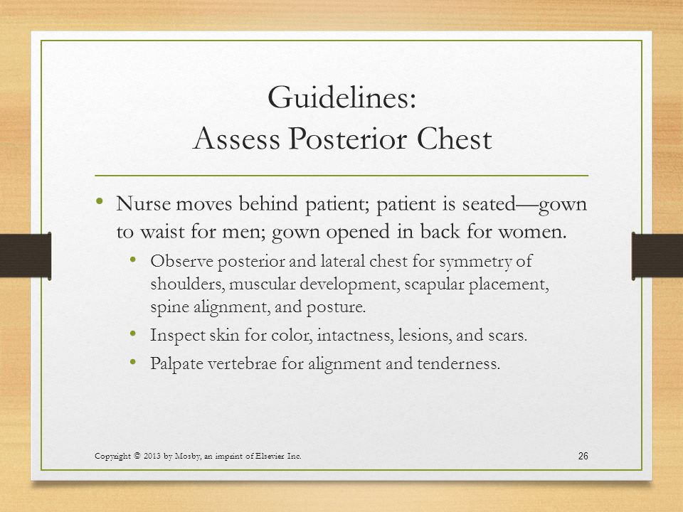 Guidelines: Assess Posterior Chest