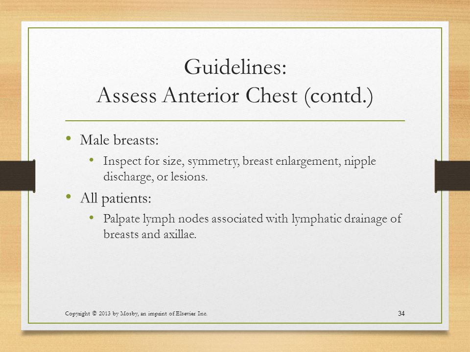Guidelines: Assess Anterior Chest (contd.)
