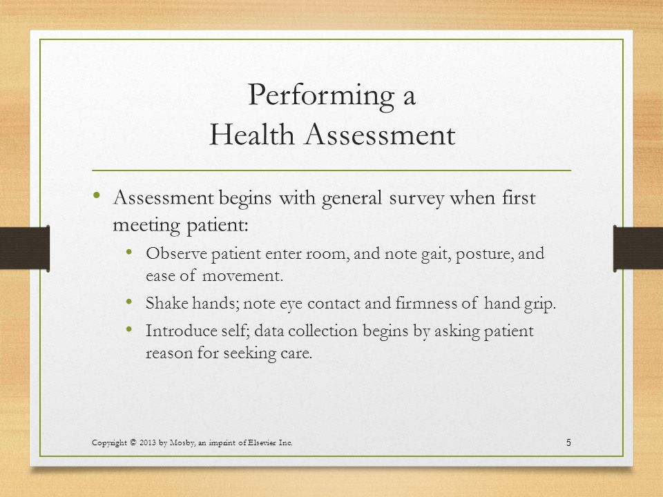 Performing a Health Assessment