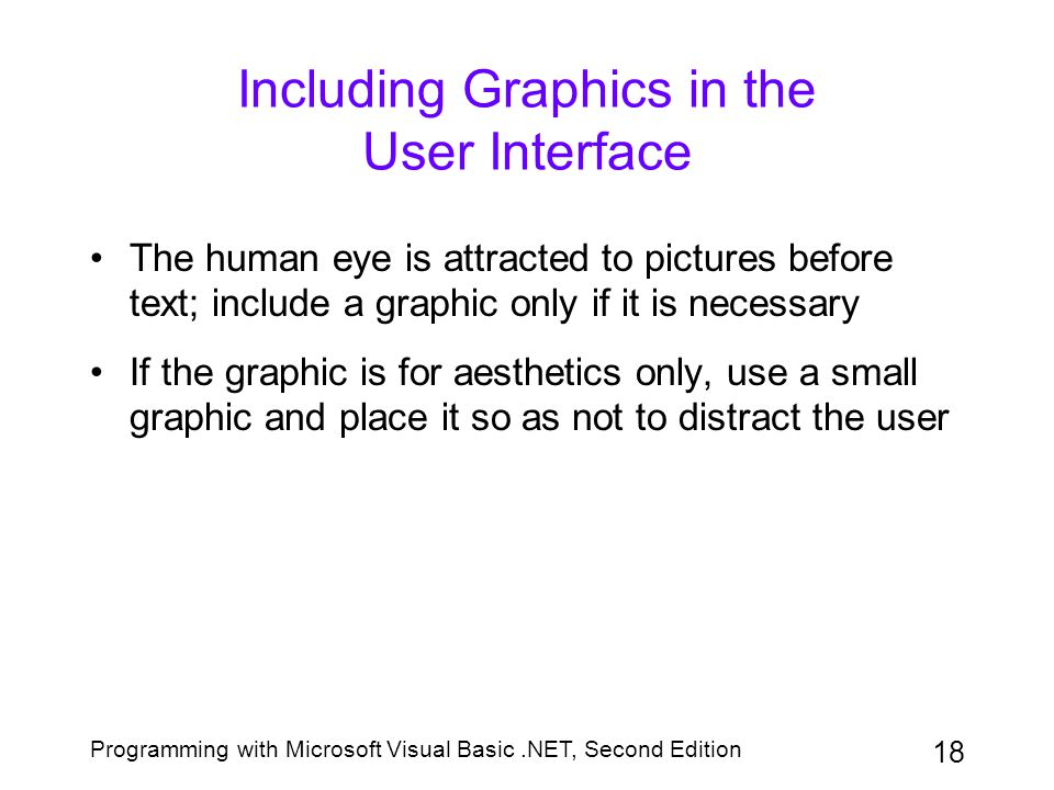 Including Graphics in the User Interface