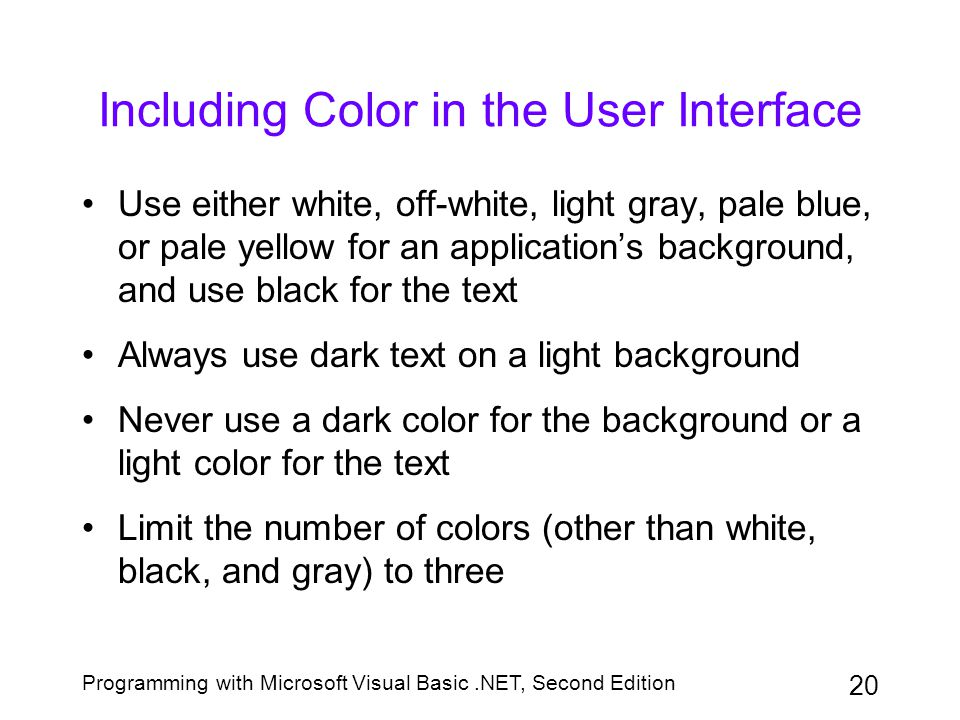 Including Color in the User Interface