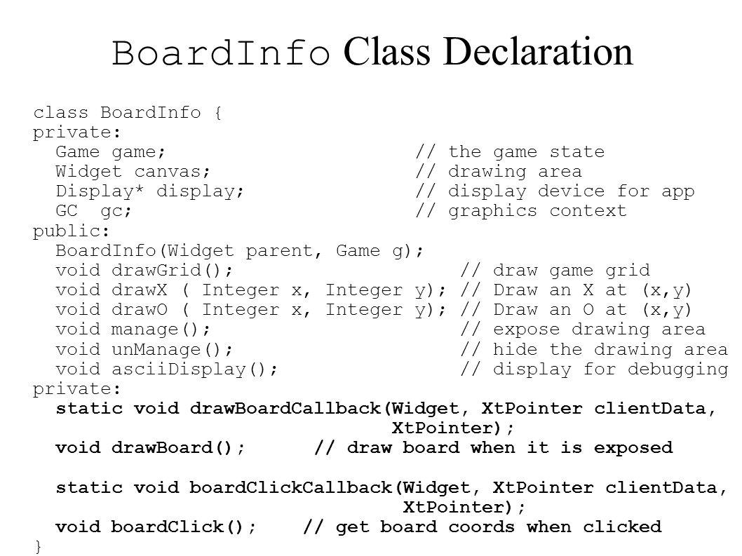 BoardInfo Class Declaration
