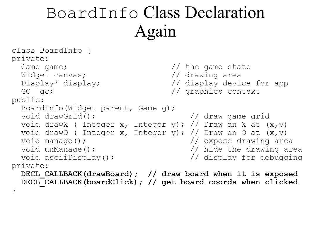 BoardInfo Class Declaration Again