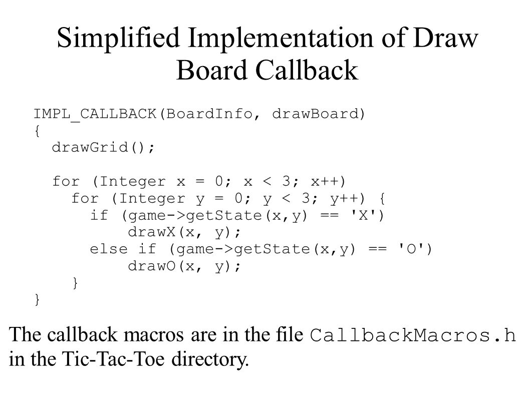 Simplified Implementation of Draw Board Callback