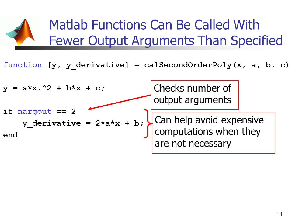 Matlab Functions Can Be Called With Fewer Output Arguments Than Specified