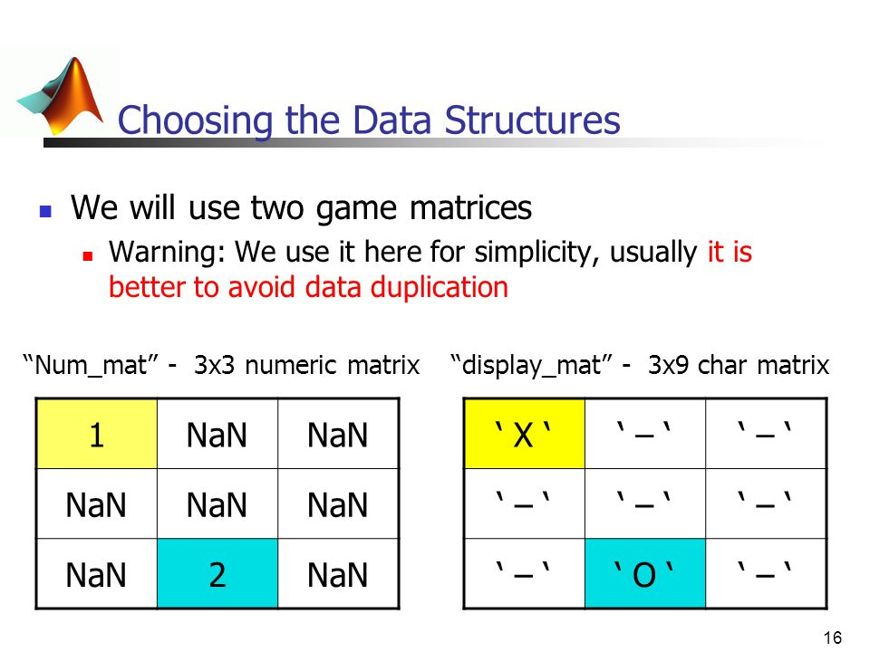 Choosing the Data Structures