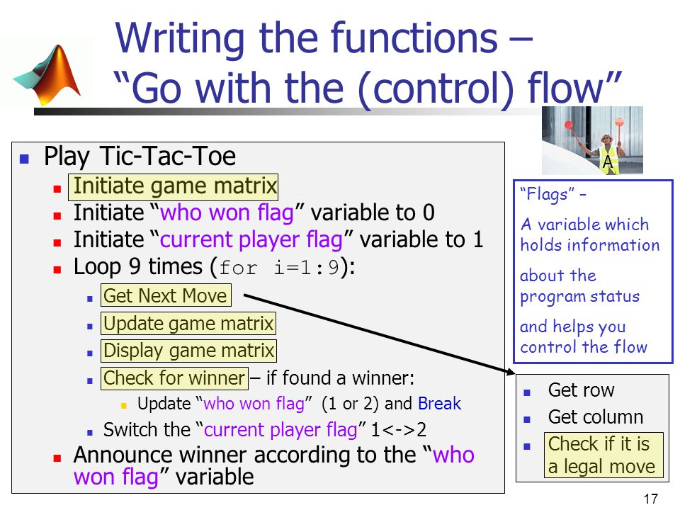 Writing the functions – Go with the (control) flow
