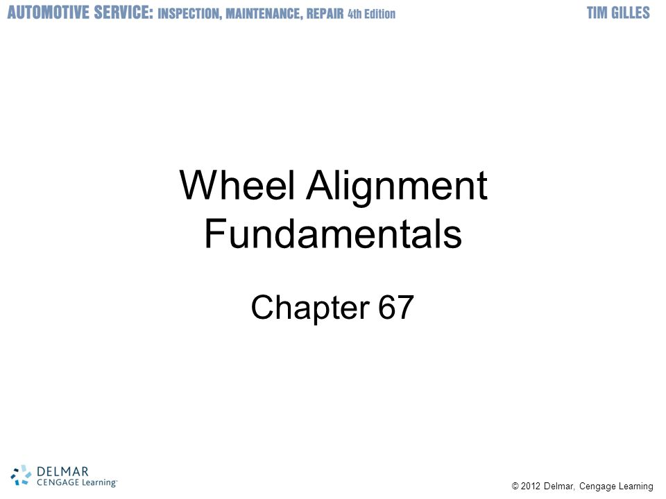 Wheel Alignment Fundamentals