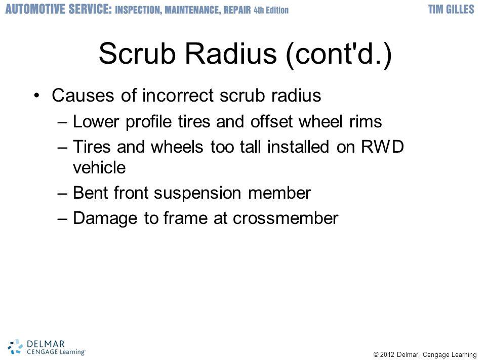 Scrub Radius (cont d.) Causes of incorrect scrub radius