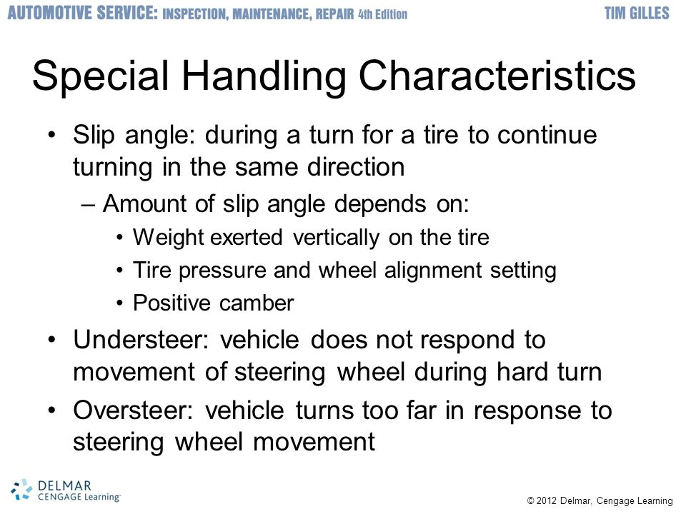 Special Handling Characteristics