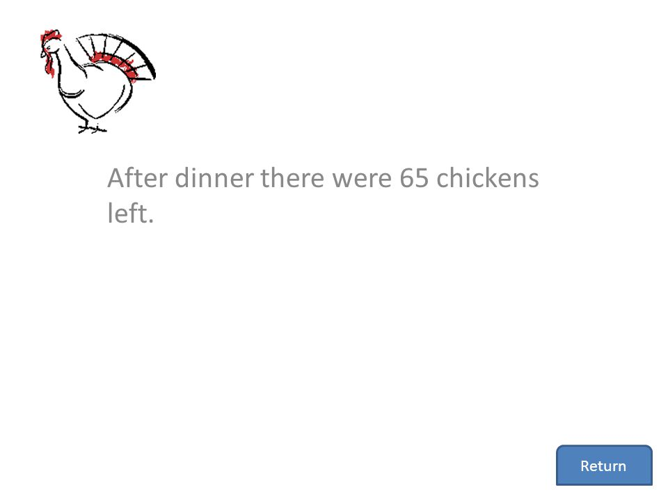 After dinner there were 65 chickens left.