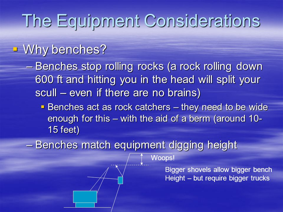 The Equipment Considerations