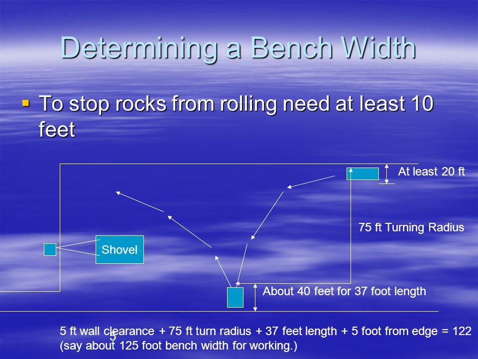 Determining a Bench Width