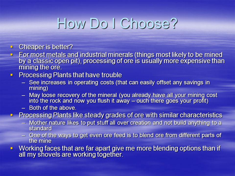 How Do I Choose Cheaper is better