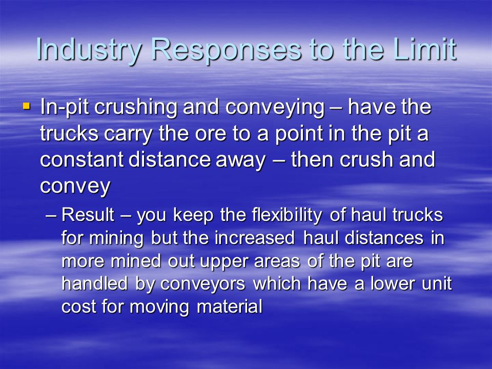 Industry Responses to the Limit