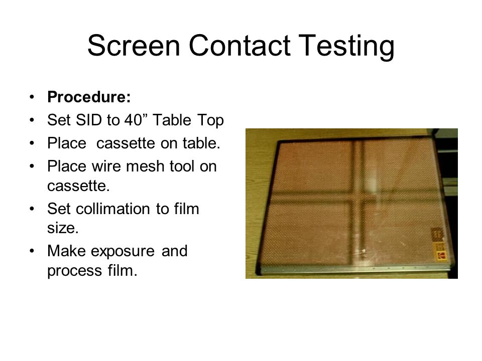 Screen Contact Testing