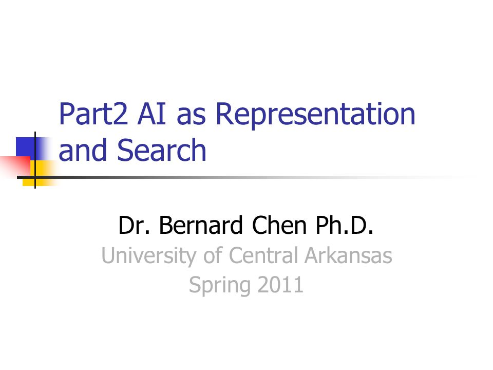 Part2 AI as Representation and Search