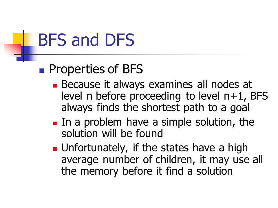 BFS and DFS Properties of BFS