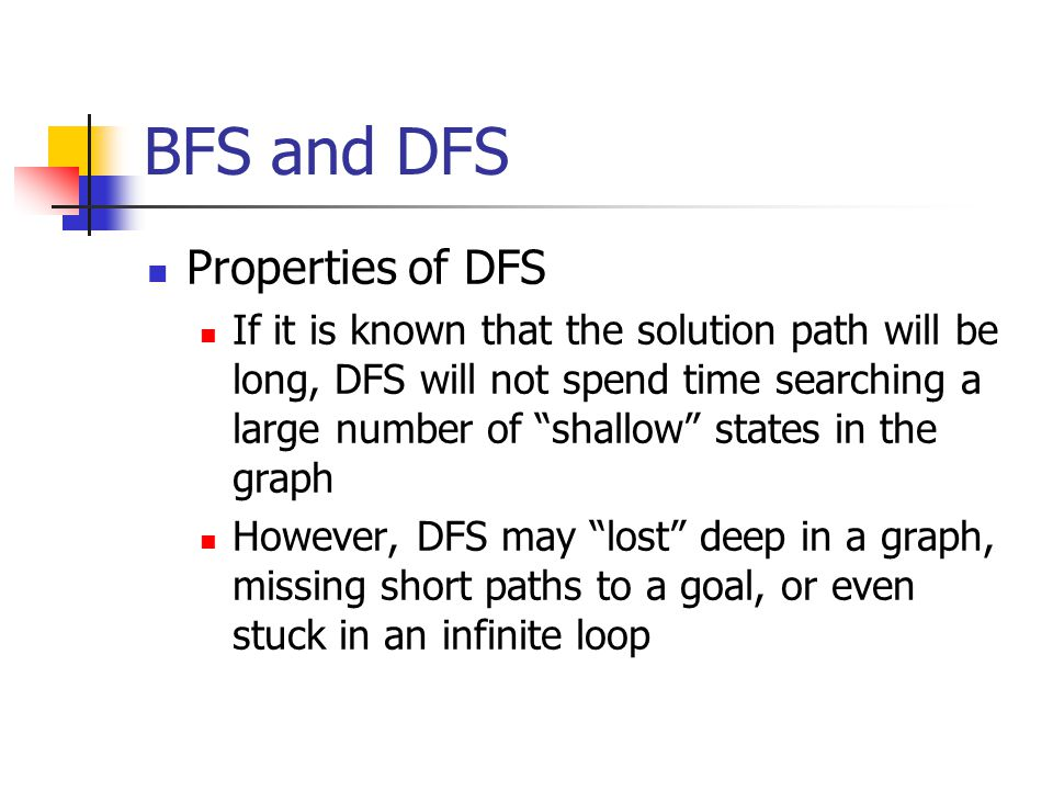 BFS and DFS Properties of DFS