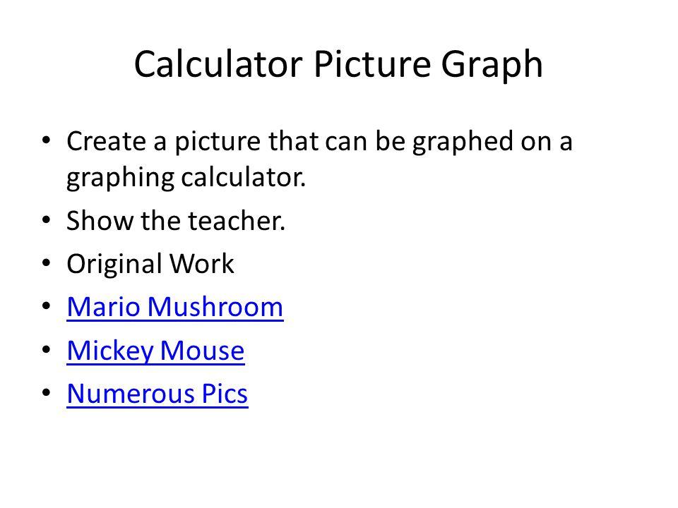 Calculator Picture Graph