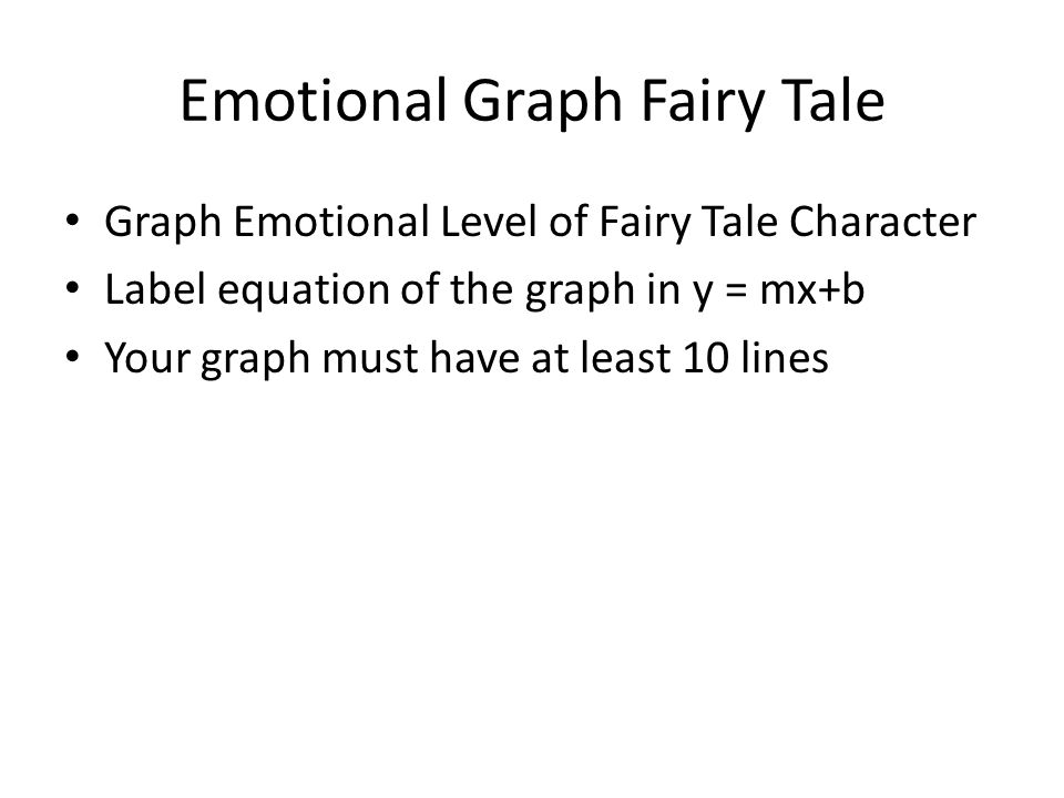 Emotional Graph Fairy Tale