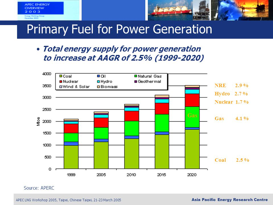 Primary Fuel for Power Generation