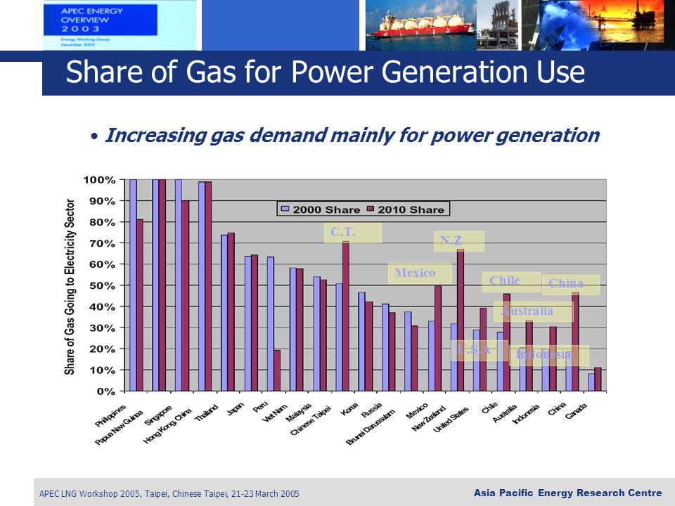 Share of Gas for Power Generation Use