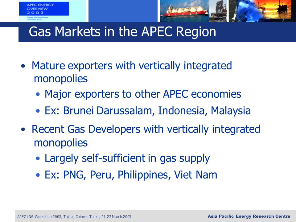 Gas Markets in the APEC Region