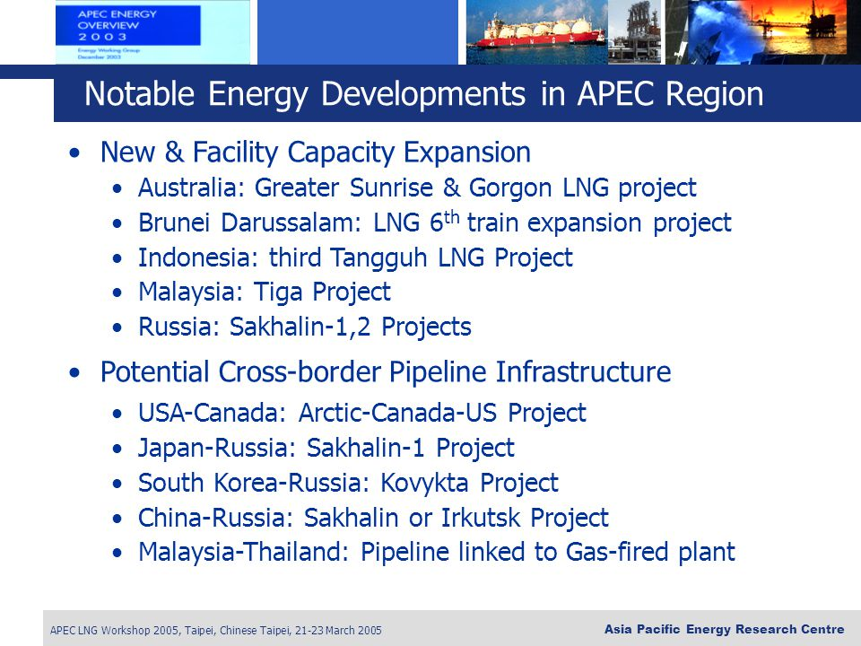 Notable Energy Developments in APEC Region