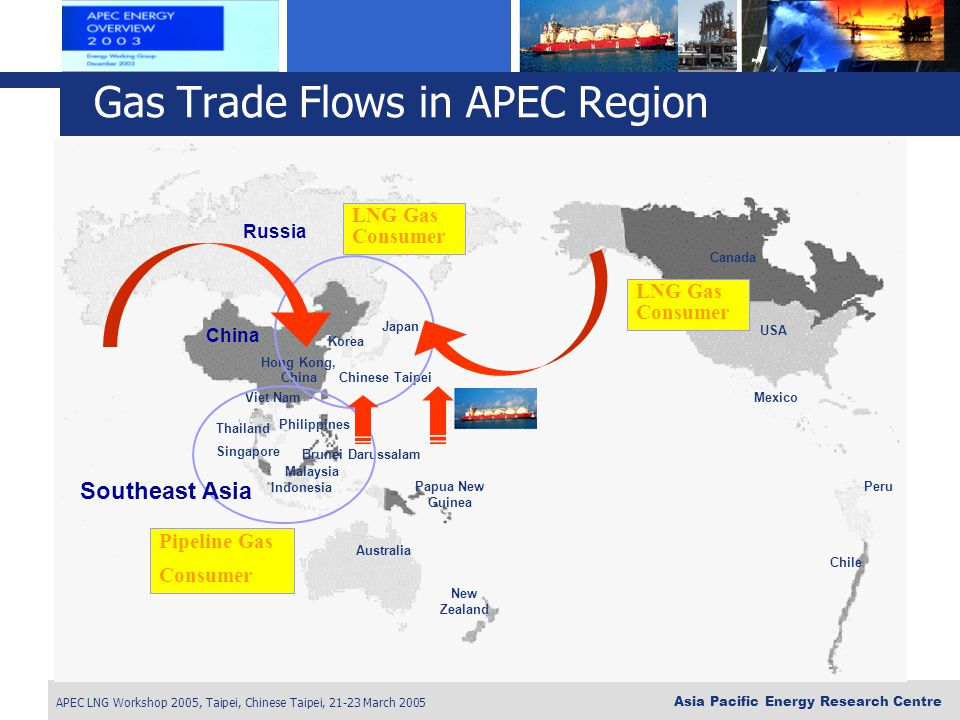 Gas Trade Flows in APEC Region