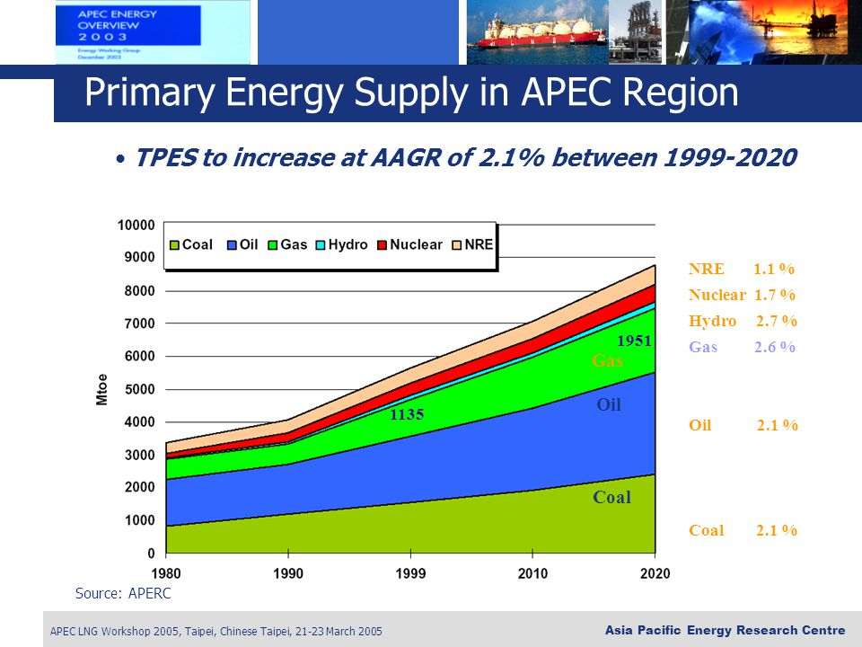Primary Energy Supply in APEC Region