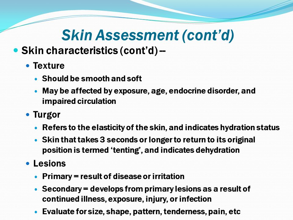 12 Skin Assessment ...  sc 1 st  SlidePlayer & NURS2520 Health Assessment II - ppt download