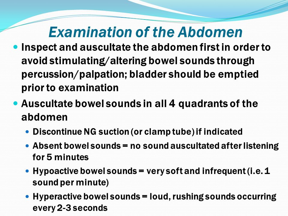 Examination of the Abdomen