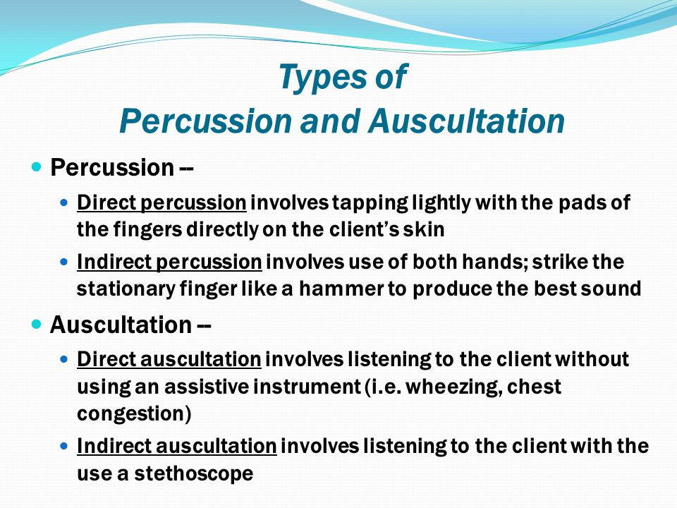 Types of Percussion and Auscultation
