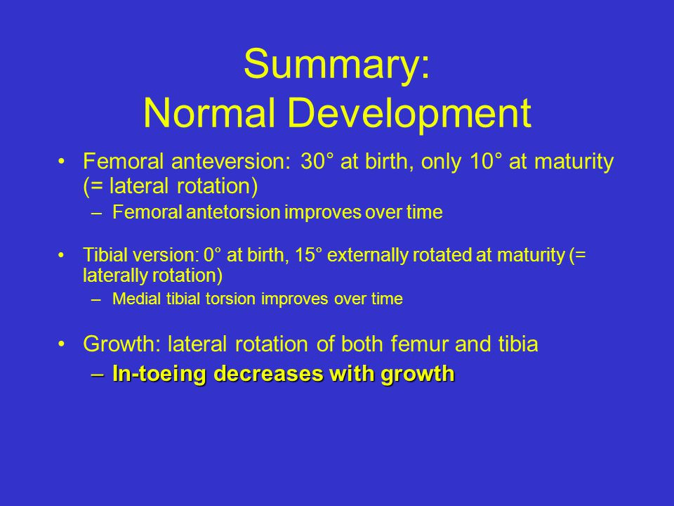 Summary: Normal Development