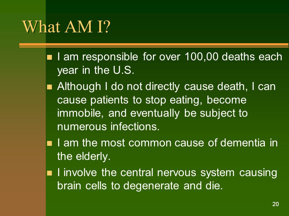 What AM I I am responsible for over 100,00 deaths each year in the U.S.