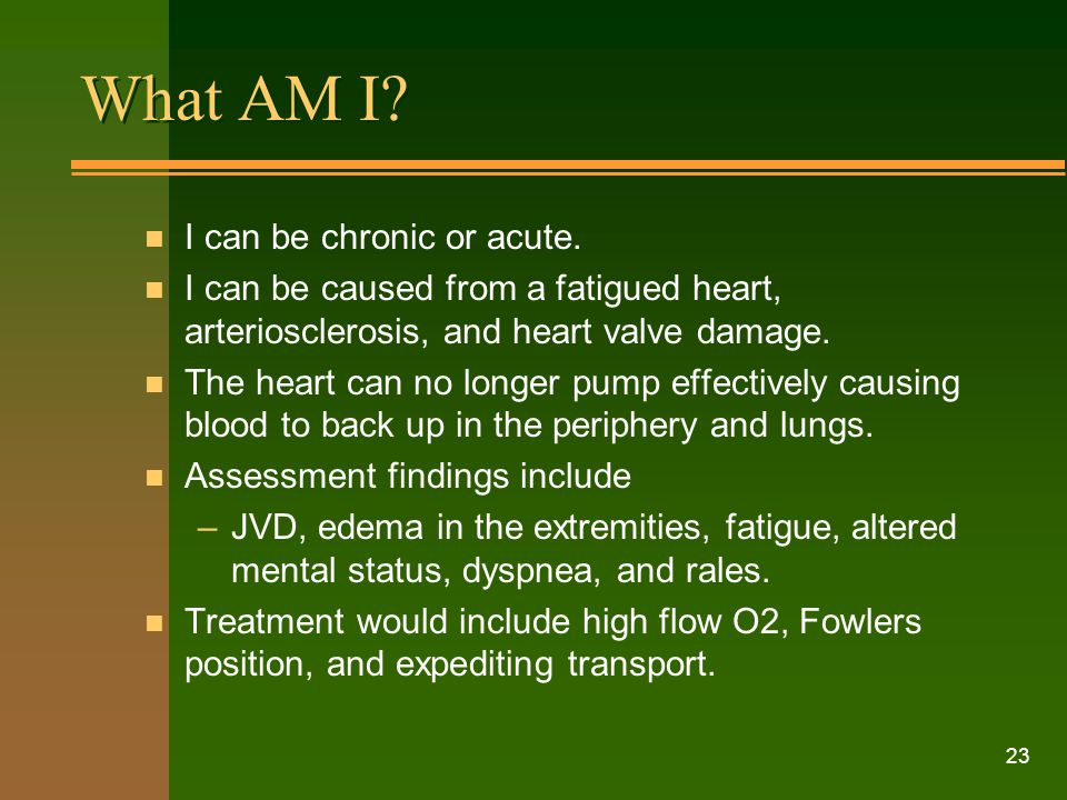 What AM I I can be chronic or acute.