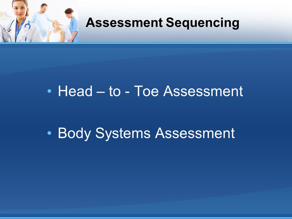 Assessment Sequencing